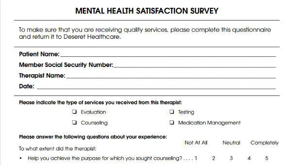 6+ Patient Satisfaction Questionnaire Form Sample - Free Sample