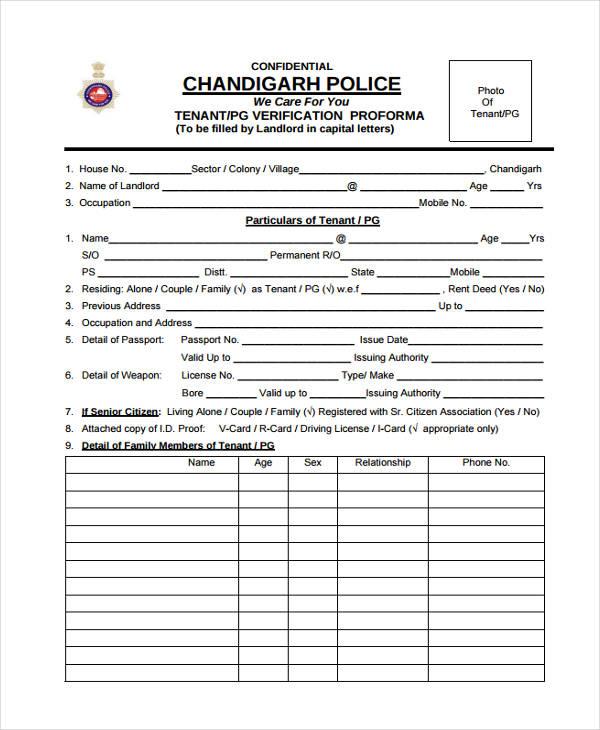 9+ Tenant Verification Form sample - Free Sample, Example Format - what is the advisor invitation verification form