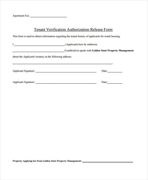 Tenant Verification Letter - Letter Idea 2018 - landlord verification form