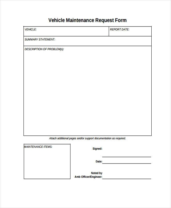10+ Maintenance Request Form Sample - Free Sample, Example Format - maintenance request form