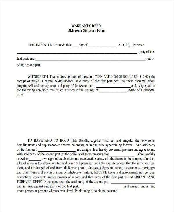 22+ Free Deed Form