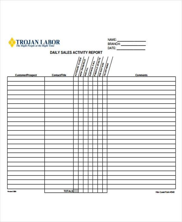 17+ Sample Sales Report Forms