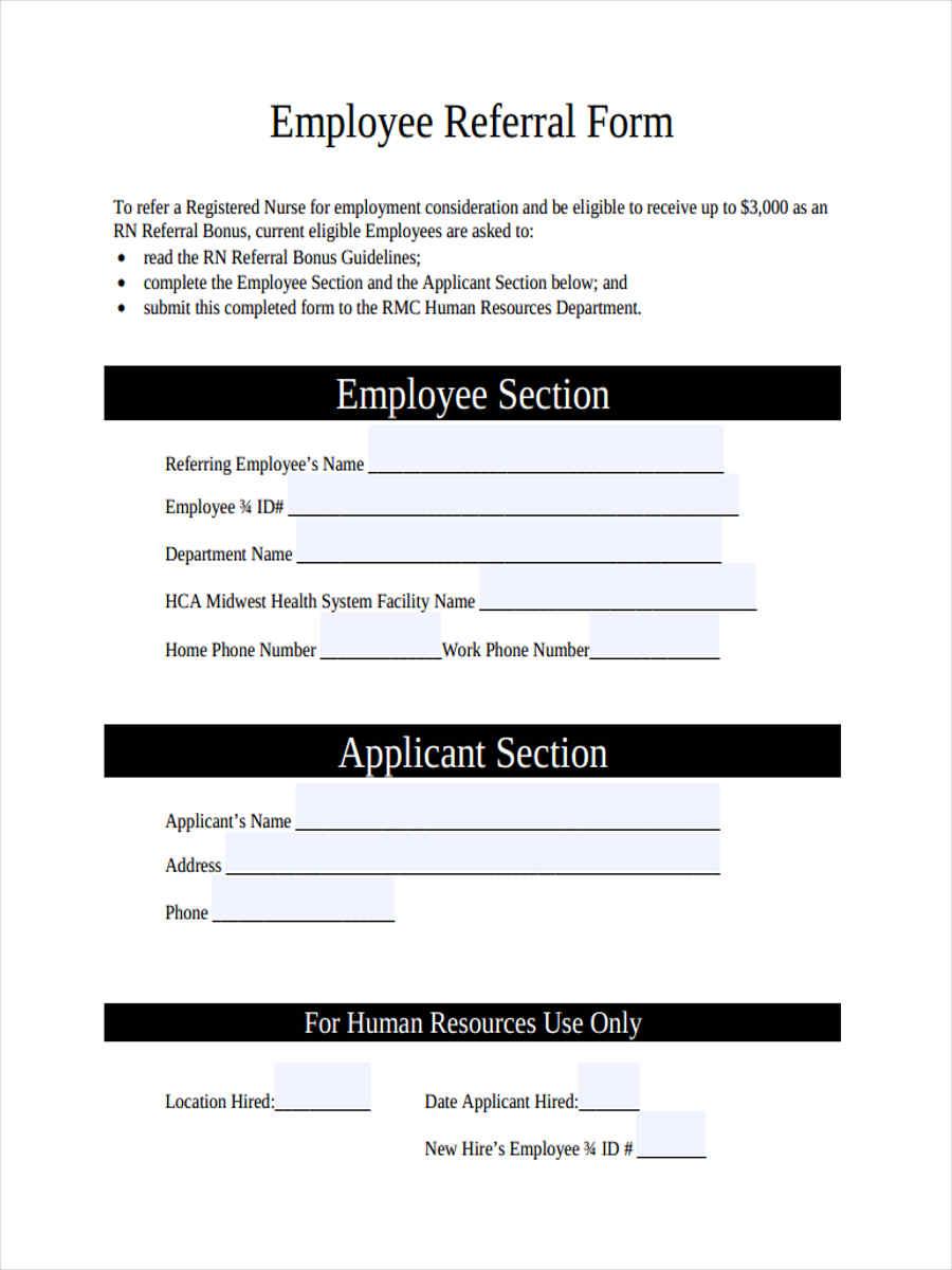sample of referral letter