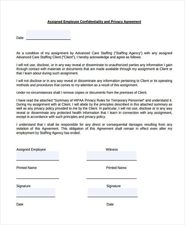 19+ Confidentiality Agreement Form - Free Documents in Word, PDF - confidentiality agreement template