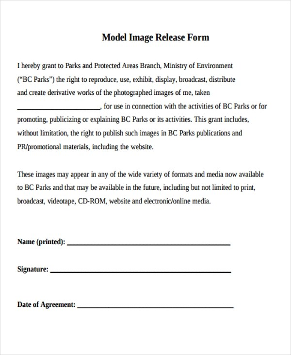 21+ Print Release Form Templates - print release form