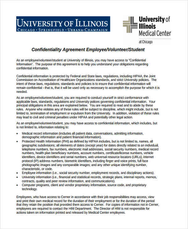 19+ Free Confidentiality Agreement Forms - Free Documents in Word, PDF - contractor confidentiality agreement