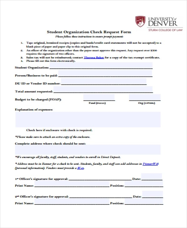 22+ Check Request Form in PDF