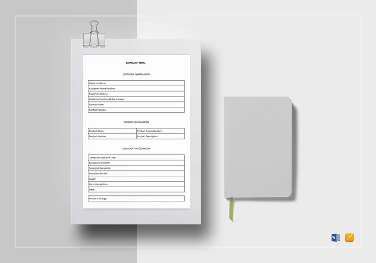 4+ Customer Complaint Forms - Word, PDF