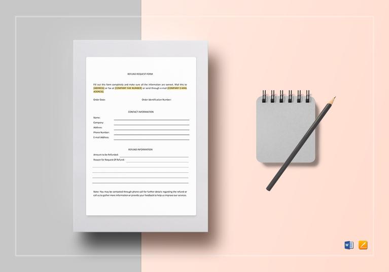 4+ Refund Request Forms - Word, PDF