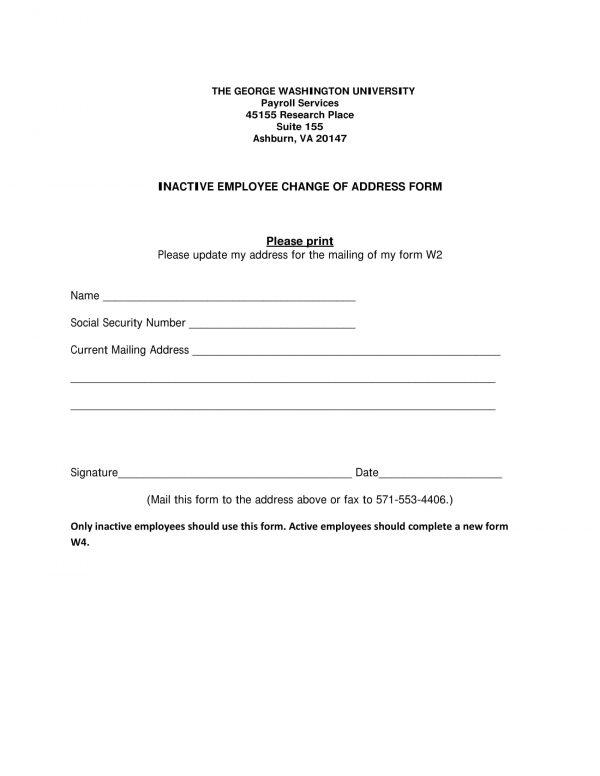 10+ Change of Address Forms - PDF, DOC - change of address printable form