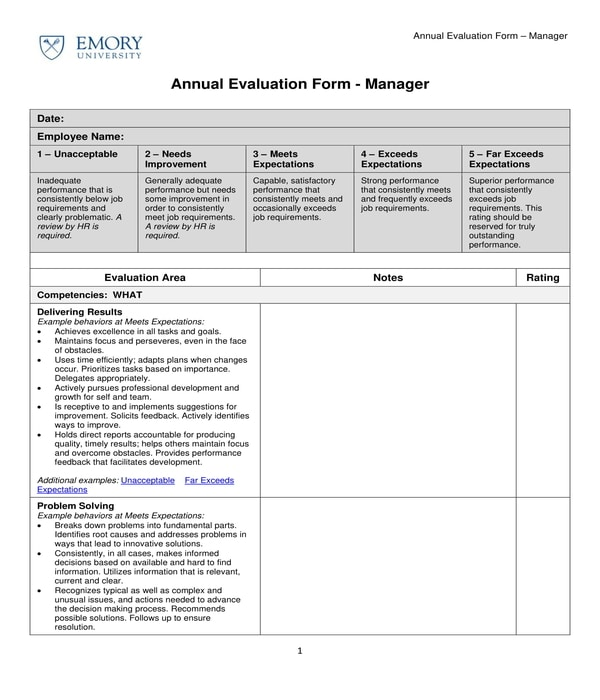 3+ Restaurant Manager Evaluation Forms in PDF - PDF