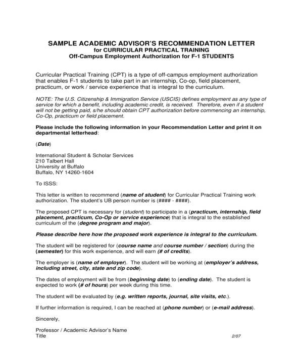 5+ Internship Recommendation Letters - PDF