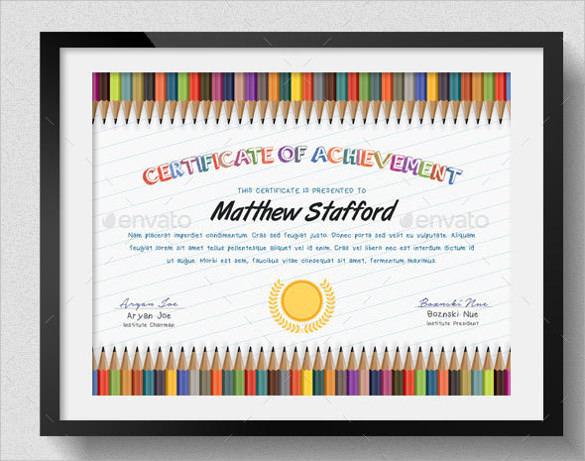 certificate draft