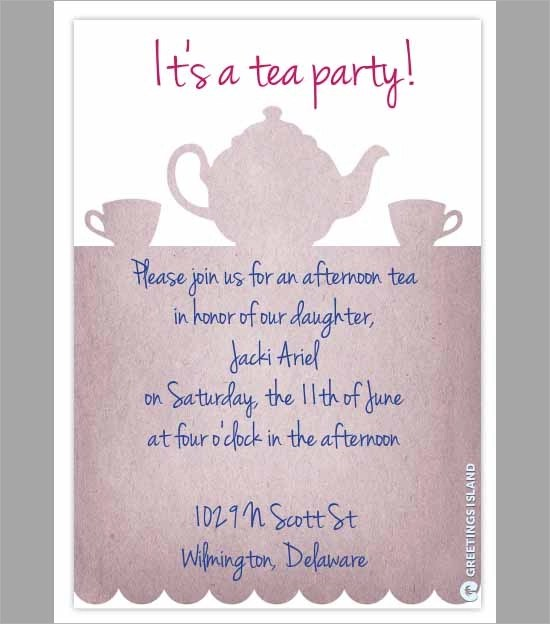 Party Invitation Template - Download in PSD, PDF - tea party invitation template