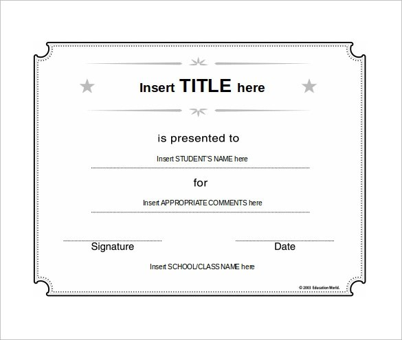 31+ Best School Certificate Templates Sample Templates - merit certificate comments