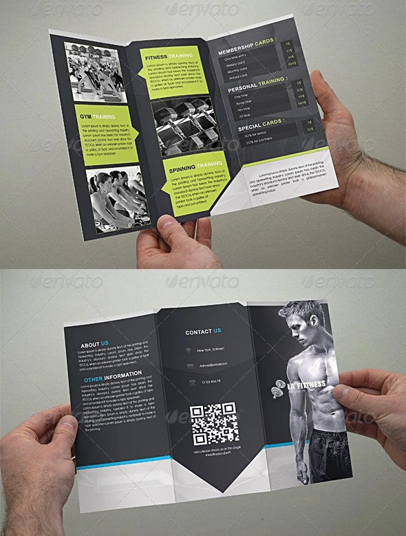 20 Best Gym Brochure Templates Sample Templates - Fitness Brochure