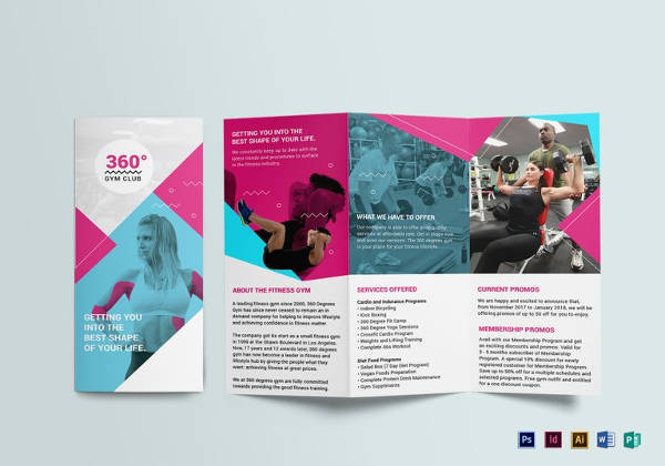 fitness brochure templates - Ozilalmanoof - fitness brochure template