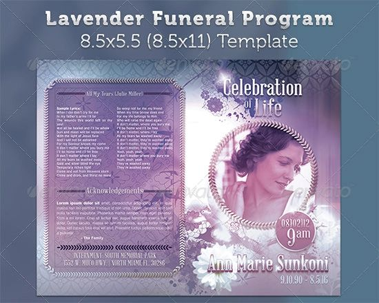 template for funeral program on word free