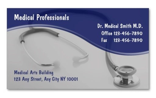 21+ Awesome Business Card Template for Doctors Sample Templates - medical business card templates