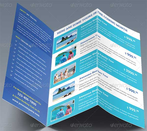 27 Best Travel Brochure Templates Sample Templates - Vacation Brochure Template