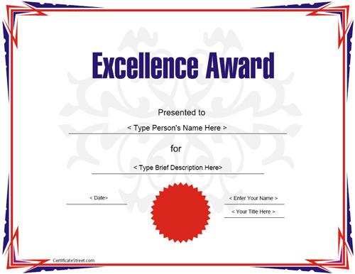 23 Best Award Certificate Templates Sample Templates - sample award certificate