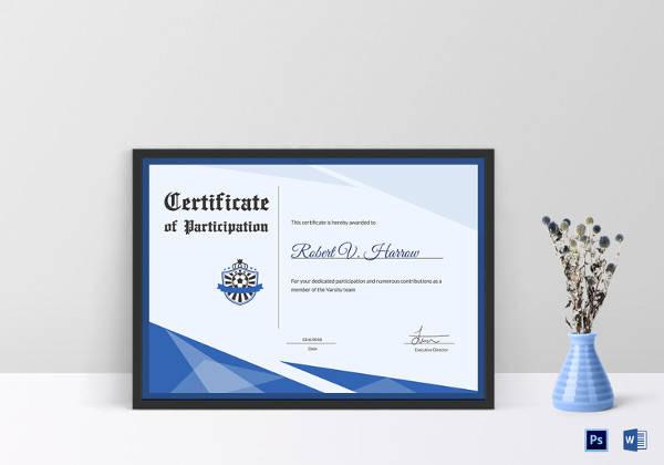service awards certificate