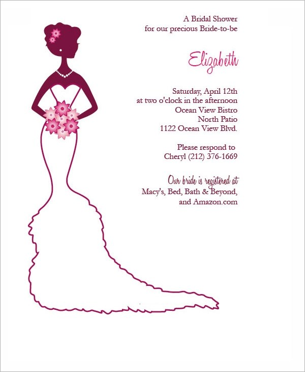 30+ Best Bridal Shower Invitation Templates Sample Templates