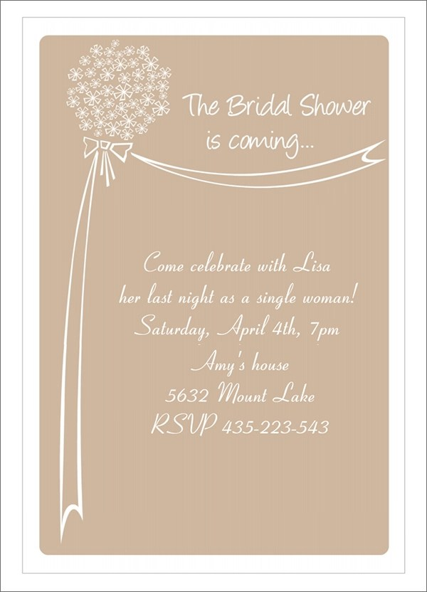 33+ Best Bridal Shower Invitation Templates - Word, PSD, AI