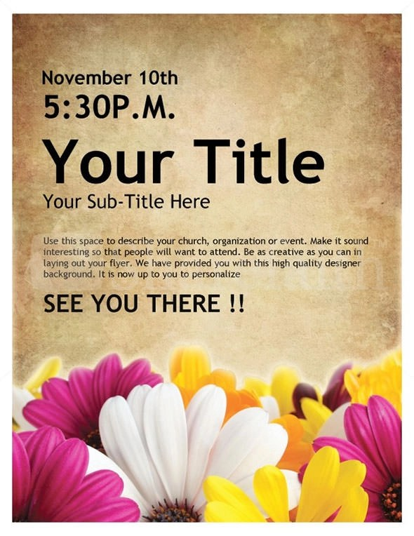 29 Best Event Flyer Templates to Download Sample Templates - invitation flyer sample