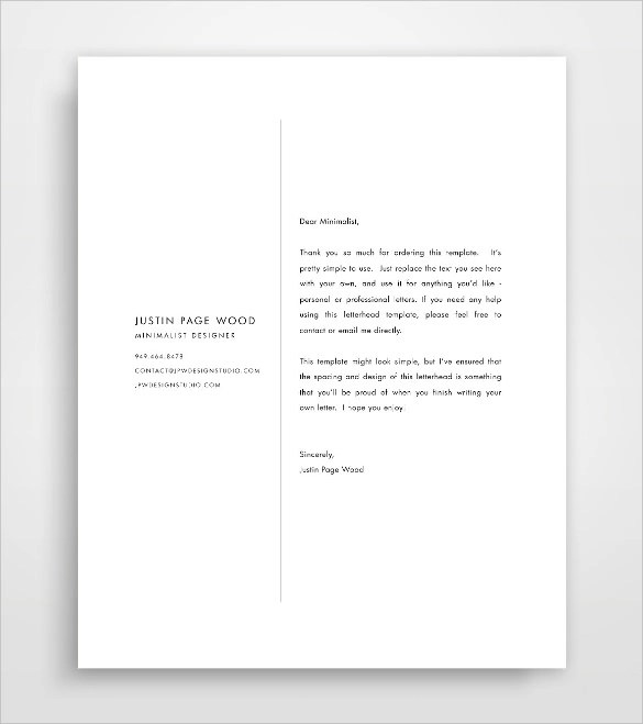 Top 21 Business Letterhead Templates Sample Templates