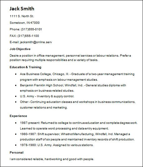 Chronological Resume Definition Format Layout 103 Sample Basic Resume 21 Documents In Word