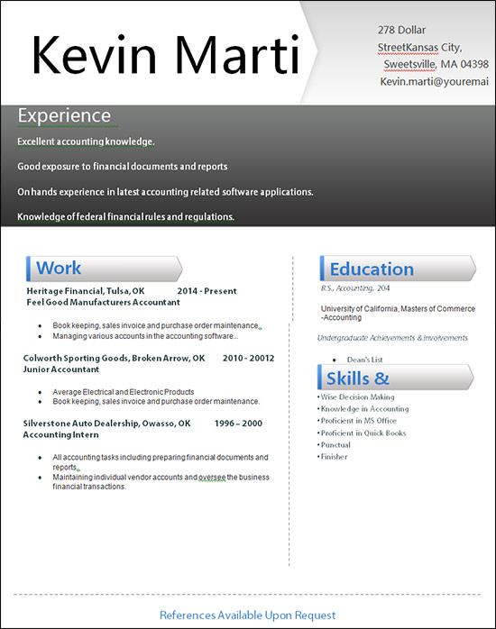 resume examples 2014 download