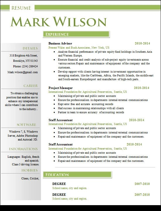 Resume Format Doc Engineer | Professional Resumes Sample Online