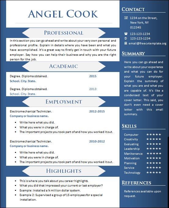 unique finance professional resume templates
