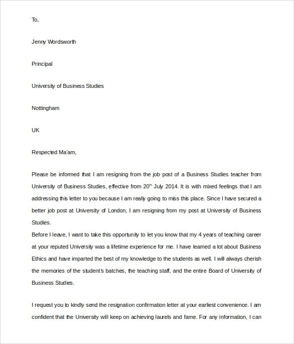 Pin by Nicole Wilkins on Job Essentials Pinterest Essentials - formal resignation letter template