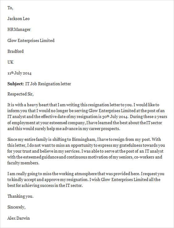 Sample resignation letter resignation letter letter 25 best ideas resignation letter format spiritdancerdesigns Gallery