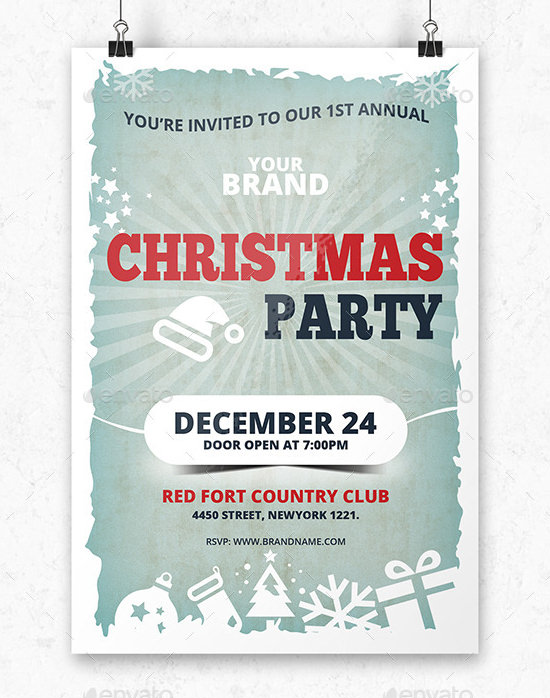 12 Printable Christmas Invitation Templates Sample Templates - printable christmas invitation templates