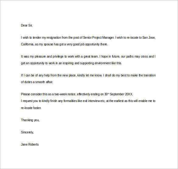Formal Resignation Letter - 40+ Download Free Documents in Word, PDF - employment resignation letter