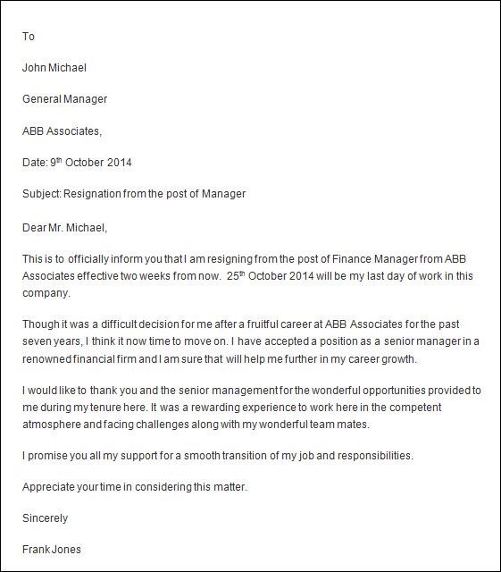 Resignation Letter Word Format Download – Template for Resignation Letter for Word