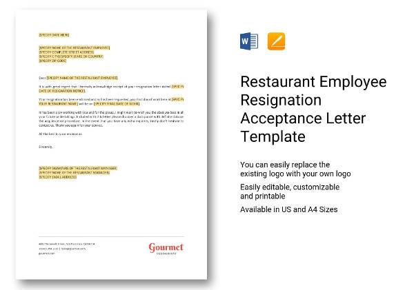 7+ Employee Resignation Letters \u2013 DOC, Apple Pages Sample Templates