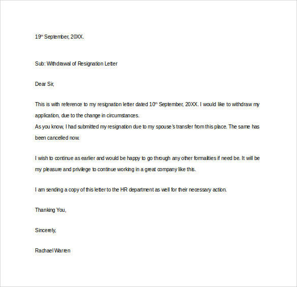 Formal Resignation Letter - 40+ Download Free Documents in Word, PDF - actions when resigning internship