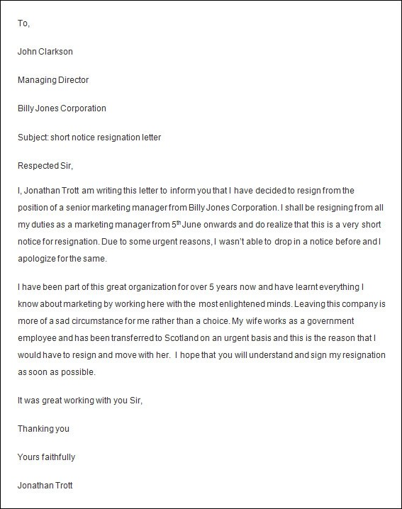 6+ Employee Resignation Letters \u2013 DOC, Apple Pages Sample Templates