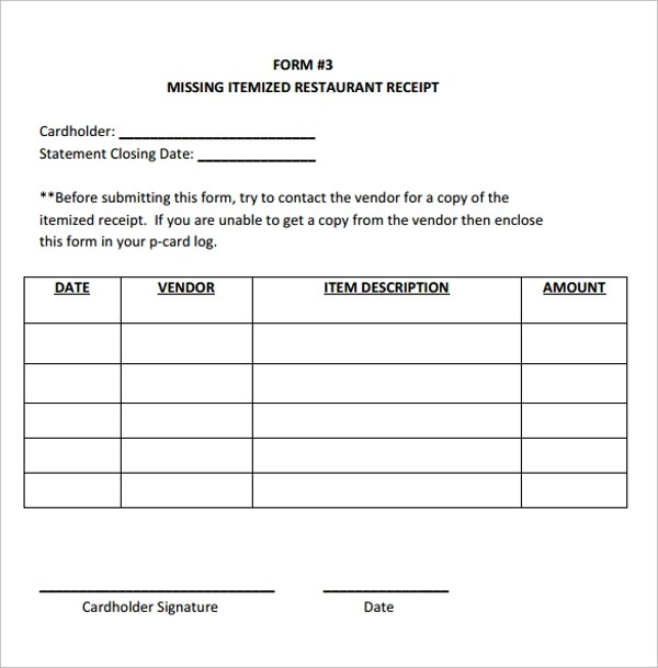 19+ Restaurant Receipt Templates \u2013 PDF, Word, Excel Sample Templates - How Do You Make A Receipt