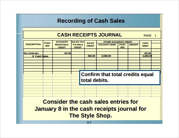 Sample Sales Receipt Template - 17+ Free Documents in Word, PDF - cash receipt form pdf