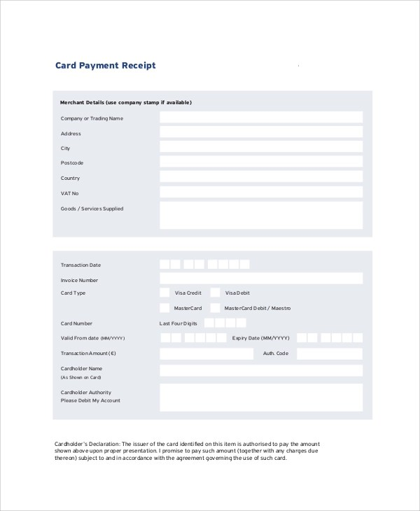 31+ Payment Receipt Templates Sample Templates