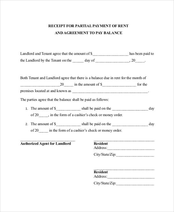 part payment receipt format - Militarybralicious - amount receipt format