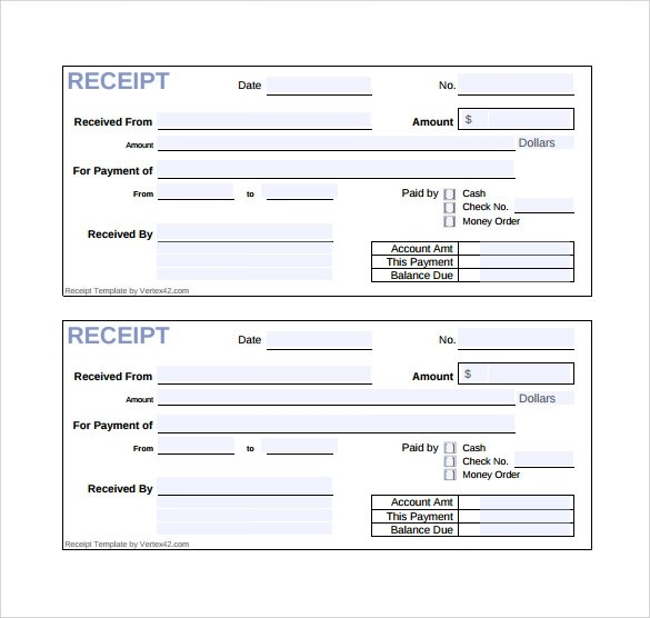 18 Sales Receipt Template Download for Free Sample Templates