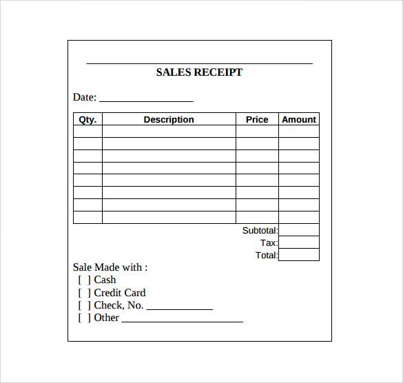 Rent Receipt Template Doc – Rent Receipt Sample Doc