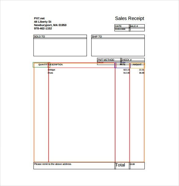18 Sales Receipt Template Download for Free Sample Templates - printable sales receipts
