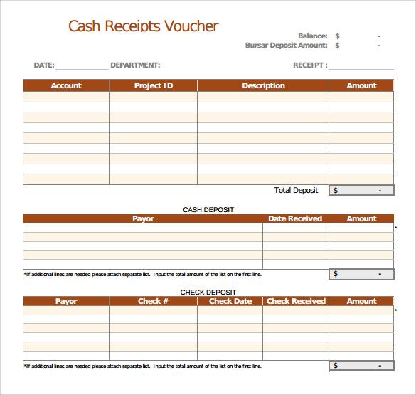 29+ Cash Receipt Templates Sample Templates - Cash Receipt Voucher Word Format